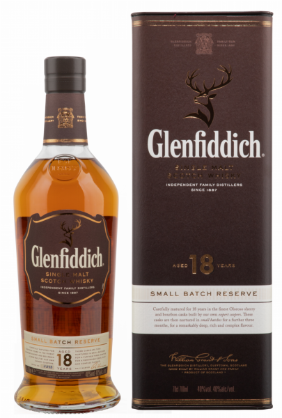 Glenfiddich Single Malt married in small batches 18 J. 40% 70cl