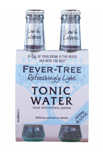 Fever-Tree Refreshingly Light Tonic Water EW Glas 4er-Pack 20cl