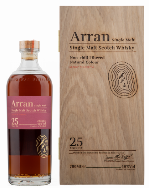 Arran Single Malt 25 J. 46% 70cl