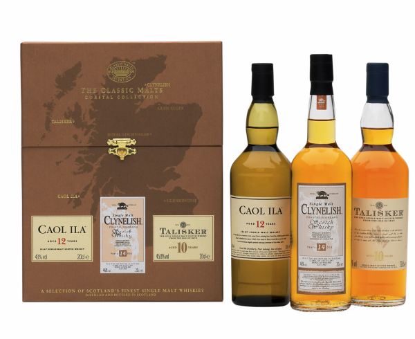 Classic Malt Coastal Collection 3 x 20cl (Caol Ila Clyn. Tal.) 44.9% 60cl