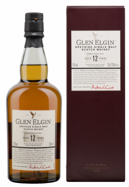 Glen Elgin Single Malt 12 J. 43% 70cl