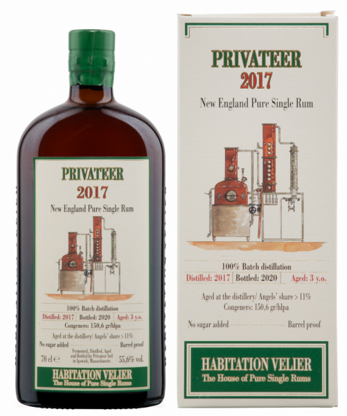 Habitation Velier Privateer New England Pure Single Rum 2017 3 J. 55.6% 70cl