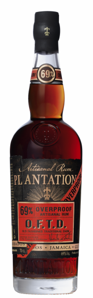 Plantation Rum Old Fashioned Traditional Dark Overproof 69% 70cl
