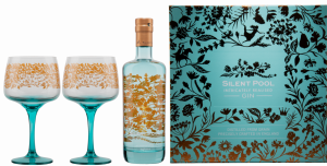 Silent Pool London Dry Gin mit 2 Gläser 43% 70cl