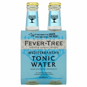 Fever-Tree Mediterranean Tonic Water EW Glas 4er-Pack 20cl