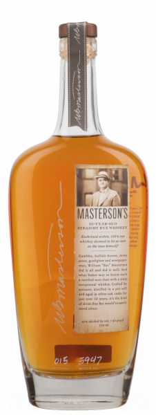 Masterson's Canadian Straight Rye Whiskey 10 J. 45% 75cl
