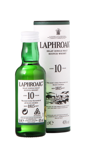 Laphroaig Single Malt Tube 10 J. 40% 5cl