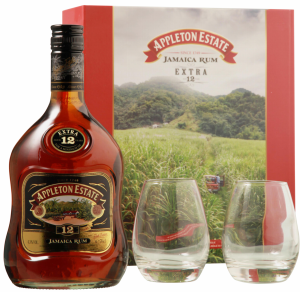 J. Wray and Nephew Ltd. Appleton Estate Rum Extra mit 2 Gläser 12 J. 43% 70cl