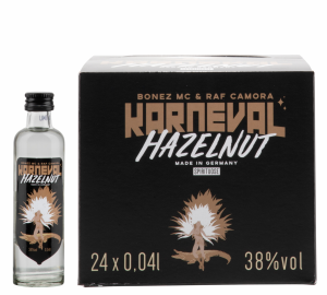 Bonez MC & RAF Camora Karneval Haselnuss Vodka 24er Pack 38% 96cl