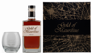 Gold of Mauritius Dark Rum GP mit Glas 40% 70cl
