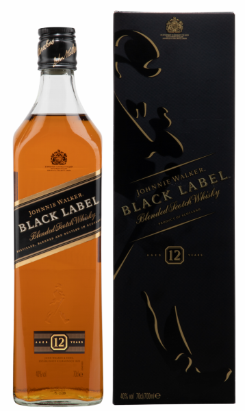 Johnnie Walker Black Label Scotch Whisky 12 J. 40% 70cl