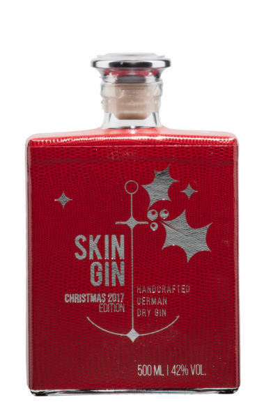 Skin Gin Dry Gin Christmas Red 42% 50cl