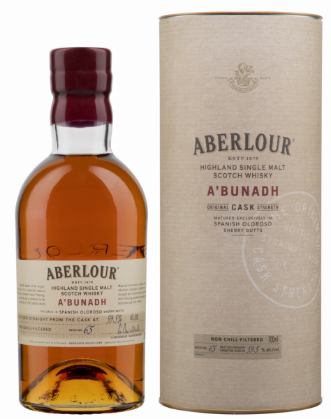 Aberlour Single Malt A'bunadh Cask Strength Batch 65 59.5% 70cl