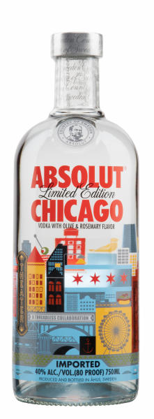 Absolut Chicago Limited Edition Vodka 40% 70cl