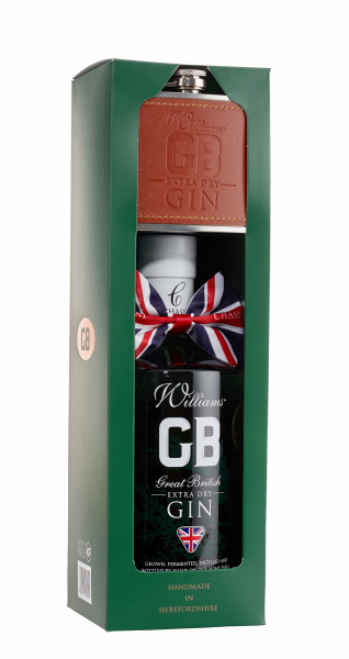 Chase Distillery Extra Dry Gin mit Flachmann 40% 70cl