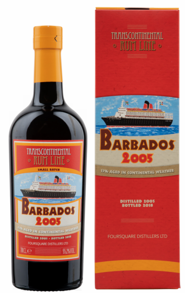 Transcontinental Rum Line Barbados Cask Strenght 2005 55.2% 70cl