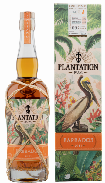Plantation Rum Barbados One Time Limited Edition 2011 9 J. 51.1% 70cl