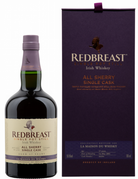 Redbreast All Sherry Single Cask French Connect 2001 17 J. 59.5% 70cl