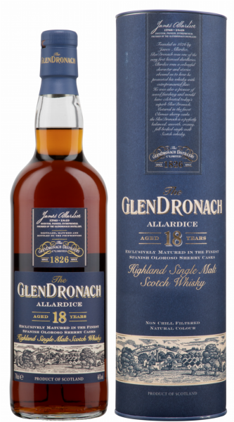 Glendronach Oloroso Sherry Cask Single Malt 18 J. 46% 70cl