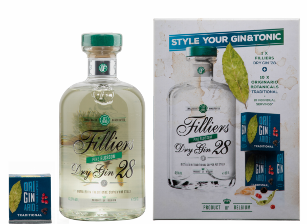 Filliers Dry Gin 28 Pine Blossom Perfext Server 42.6% 50cl