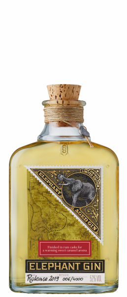 Elephant Dry Gin Cask Aged 52% 50cl