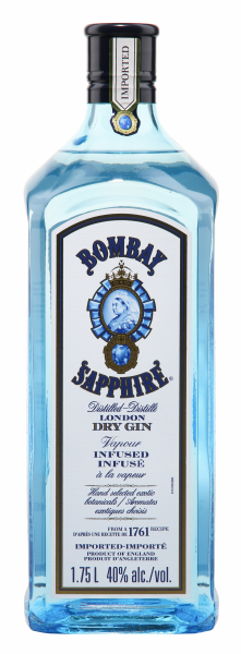 Bombay Sapphire London Dry Gin Leuchtpad 40% 175cl