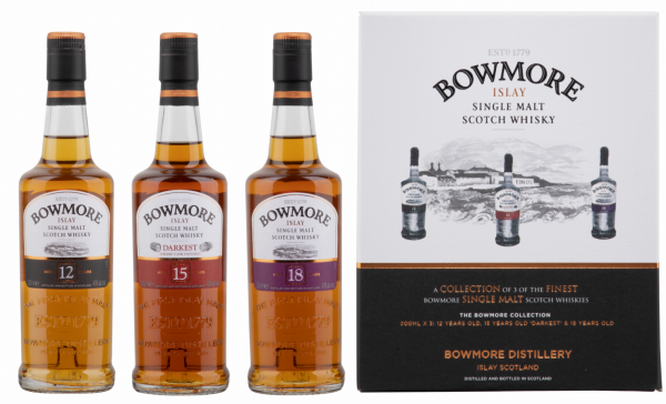 Bowmore Classic Collection 12, 15 & 18 years old Single Malt 42% 60cl