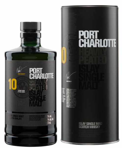 Bruichladdich Port Charlotte Single Malt 10 J. 50% 70cl