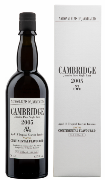 Cambridge Long Pond Rum 2005 13 J. 62.5% 70cl