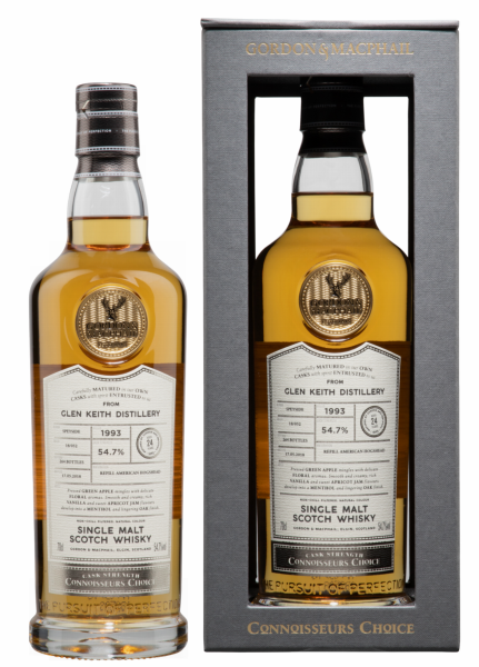Glen Keith Single Malt Gordon & Macphail Connisseurs Choice 1993 54.7% 70cl