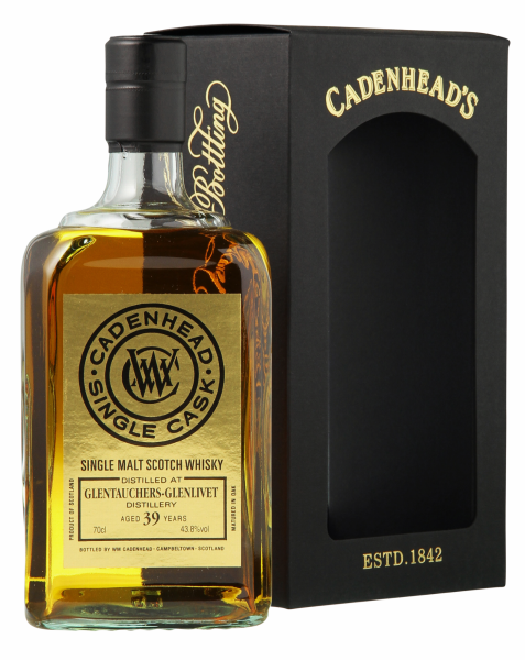 Glentauchers Cadenhead's Cask Strength Single Malt 1976 39 J. 43.8% 70cl