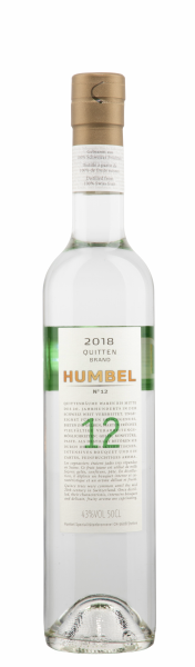 Humbel Quittenbrand Nr. 12 2018 43% 50cl