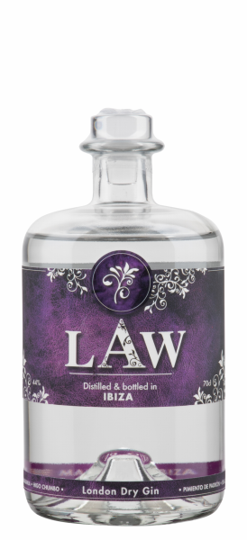 LAW Premium Dry Gin 44% 70cl