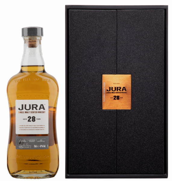 Isle of Jura Single Malt finished in amoroso sherry butts 28 J. 47% 70cl