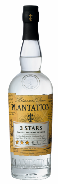 Plantation 3 Stars White Rum 41.2% 70cl