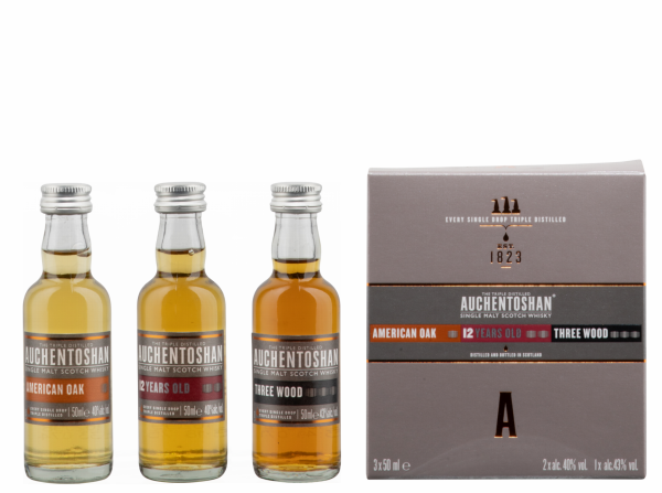 Auchentoshan Geschenkp. 3 x 5cl (American Oak-12J-Three Wood) 41% 15cl