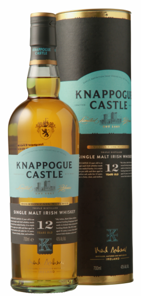Knappogue Castle Irish Single Malt Whiskey 12 J. 43% 70cl
