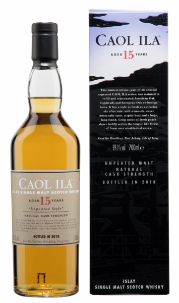 Caol Ila Malt Unpeated Special Release Single Malt 15 J. 59.1% 70cl